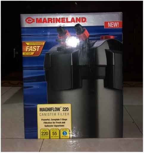 marineland brand canister filter low wattage and noise